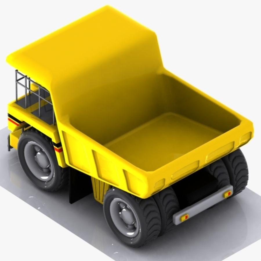 Cartoon Haul Truck royalty-free 3d model - Preview no. 7