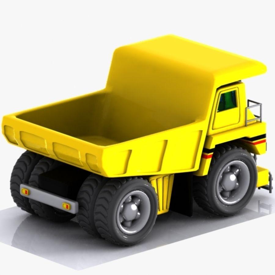 Cartoon Haul Truck royalty-free 3d model - Preview no. 6