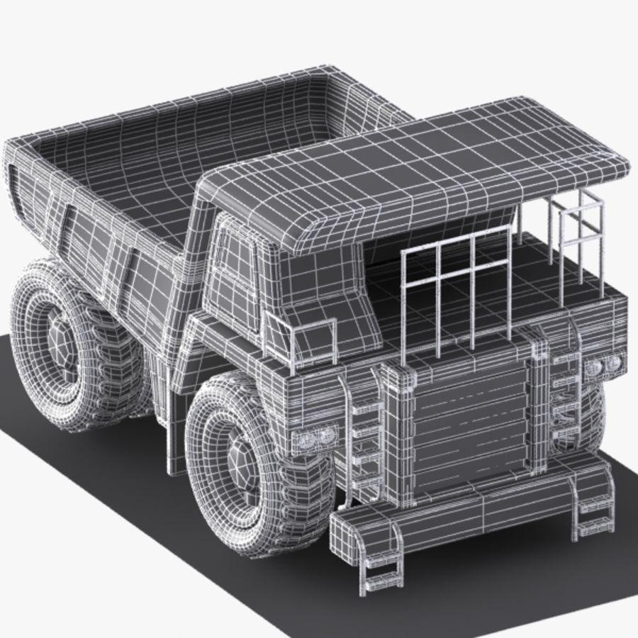 Cartoon Haul Truck royalty-free 3d model - Preview no. 9