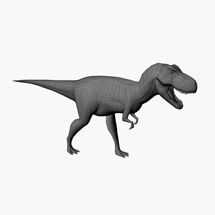 T-REX royalty-free 3d model - Preview no. 10