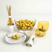 Yellow Cherries 3d model