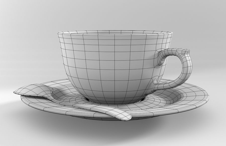 One Person Coffee Set 3D Model $18 -  blend  fbx  obj - Free3D