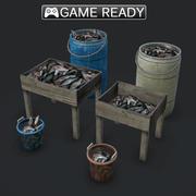 鱼堆 3d model