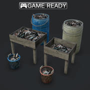 Fish Piles 3d model