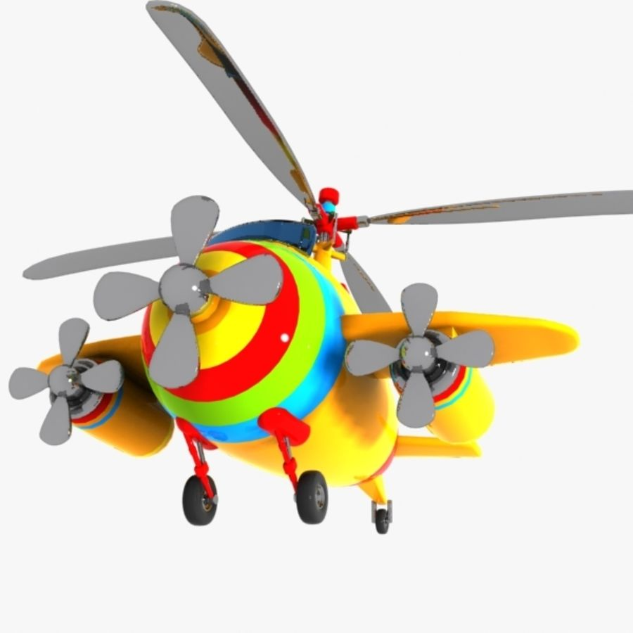 Cartoon Aircraft-Helicopter Hybrid royalty-free 3d model - Preview no. 8