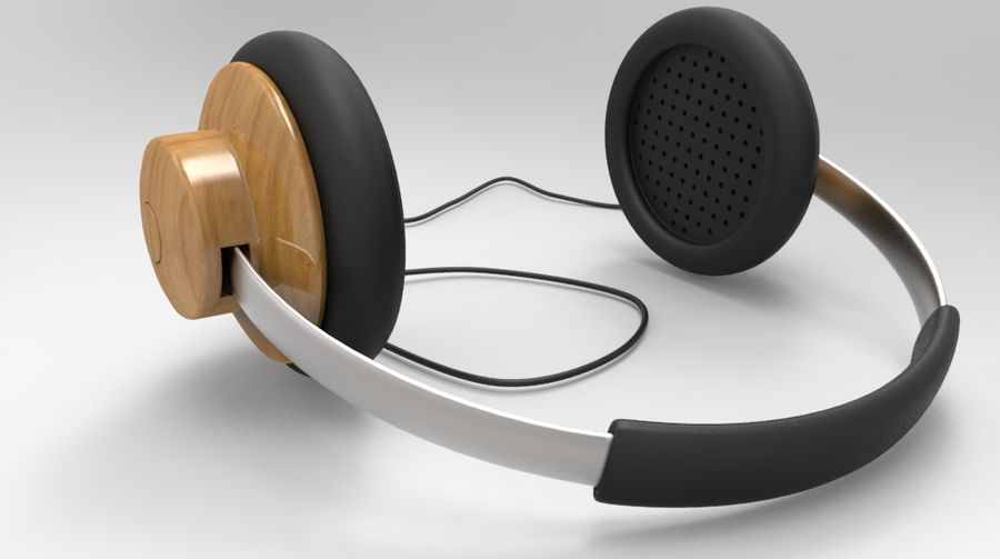 HeadPhones royalty-free 3d model - Preview no. 5