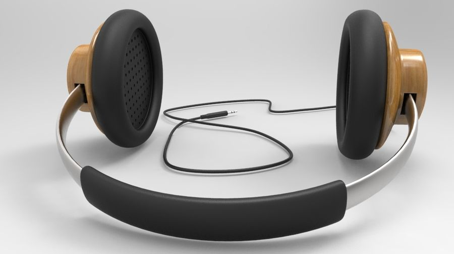 HeadPhones royalty-free 3d model - Preview no. 6