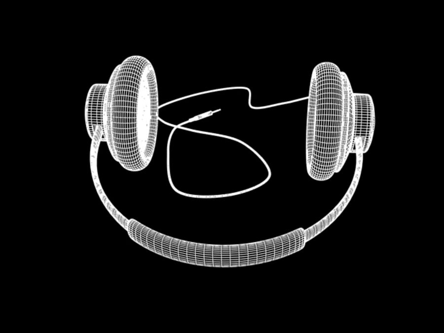HeadPhones royalty-free 3d model - Preview no. 7