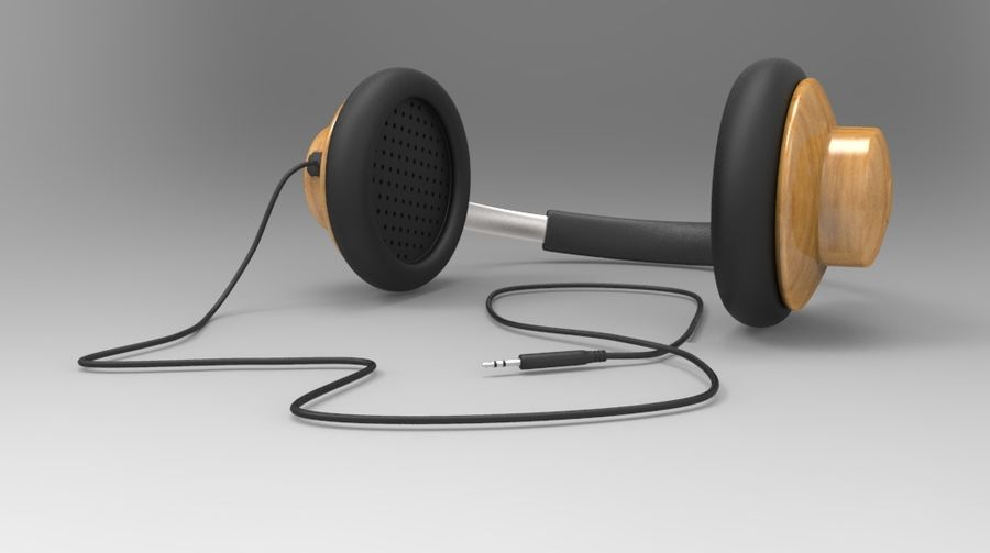 HeadPhones royalty-free 3d model - Preview no. 2