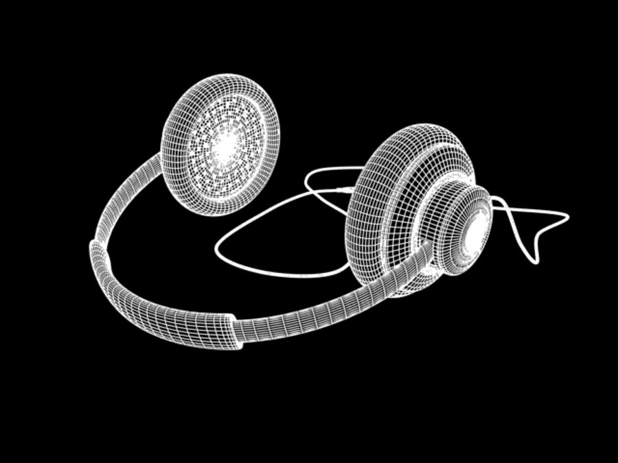 HeadPhones royalty-free 3d model - Preview no. 8