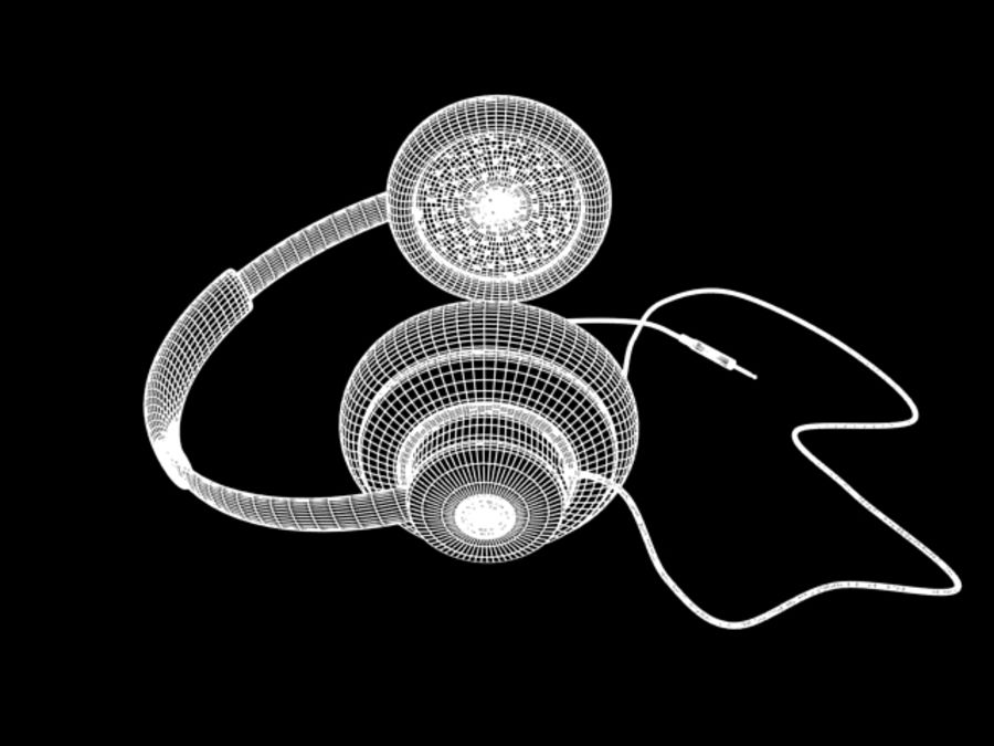 HeadPhones royalty-free 3d model - Preview no. 9