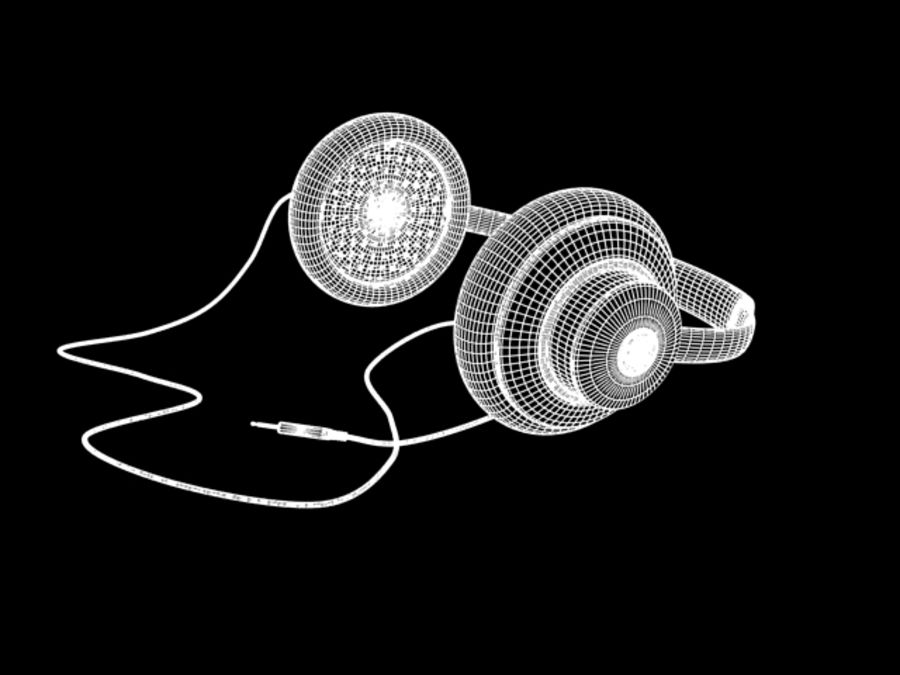 HeadPhones royalty-free 3d model - Preview no. 12