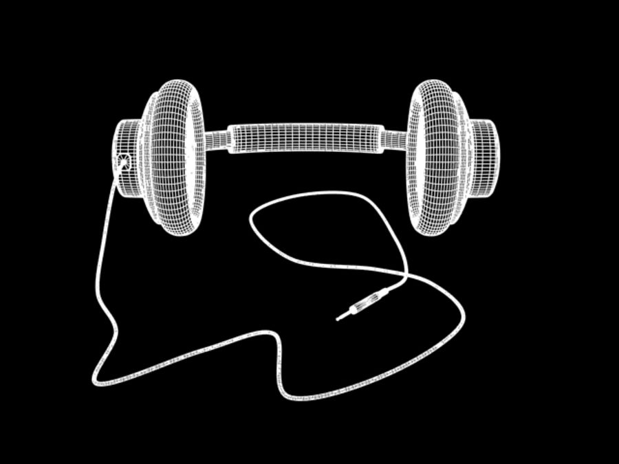 HeadPhones royalty-free 3d model - Preview no. 11