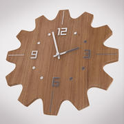Wooden Wall Clock 3d model