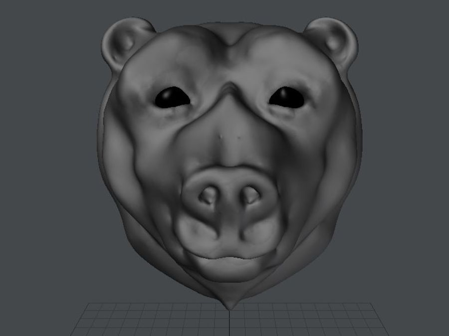 Bear head royalty-free 3d model - Preview no. 6