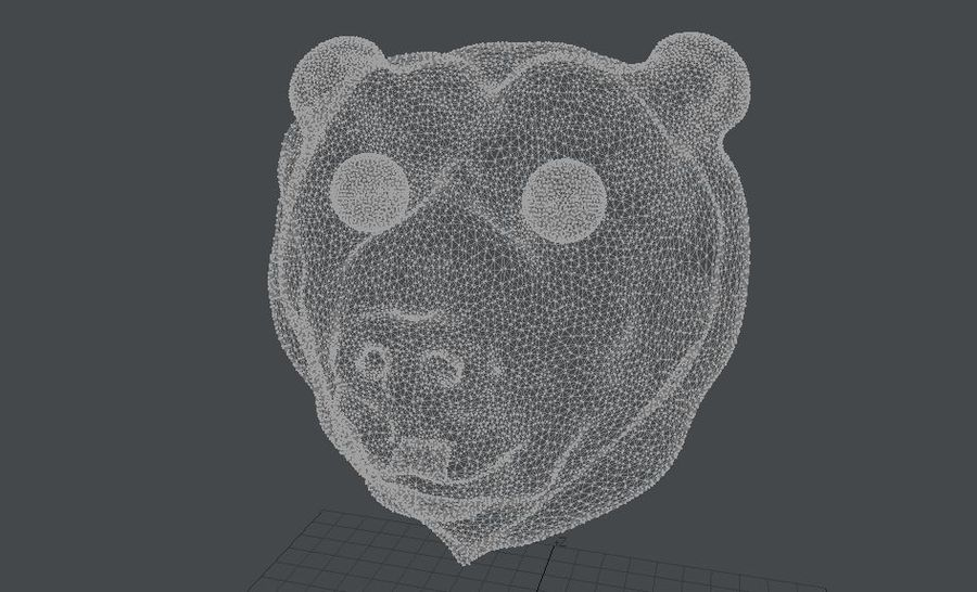 Bear head royalty-free 3d model - Preview no. 5