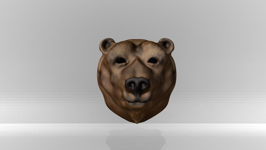 Bear head royalty-free 3d model - Preview no. 2