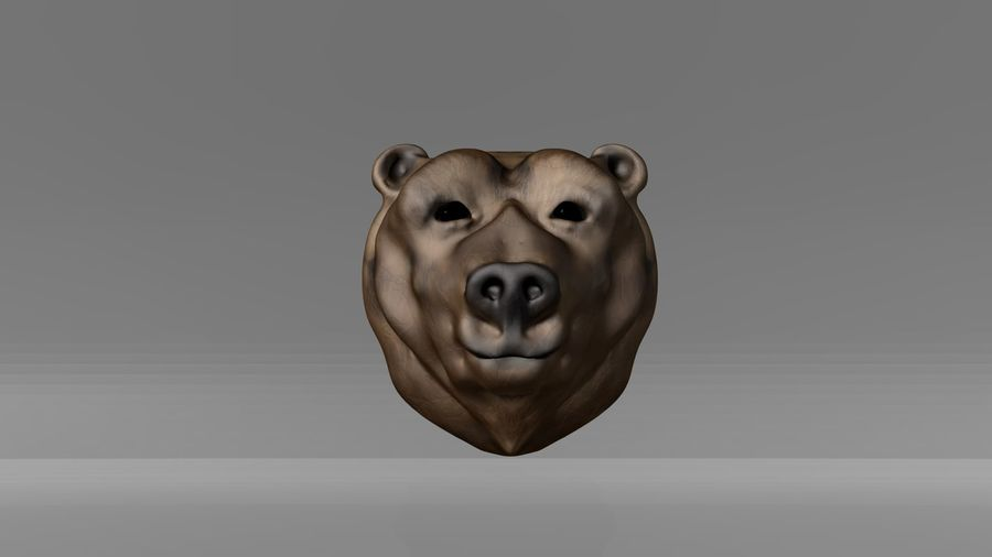 Bear head royalty-free 3d model - Preview no. 4