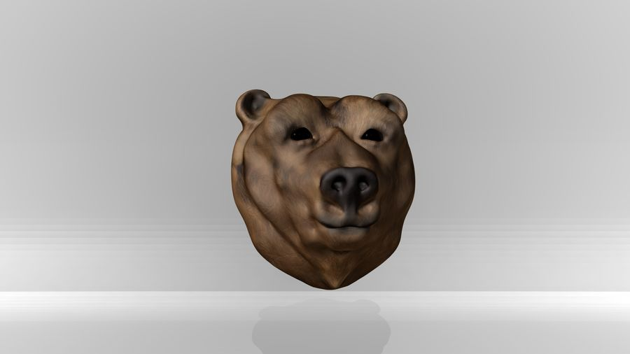 Bear head royalty-free 3d model - Preview no. 3