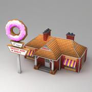 Lowpoly cafe 3d model