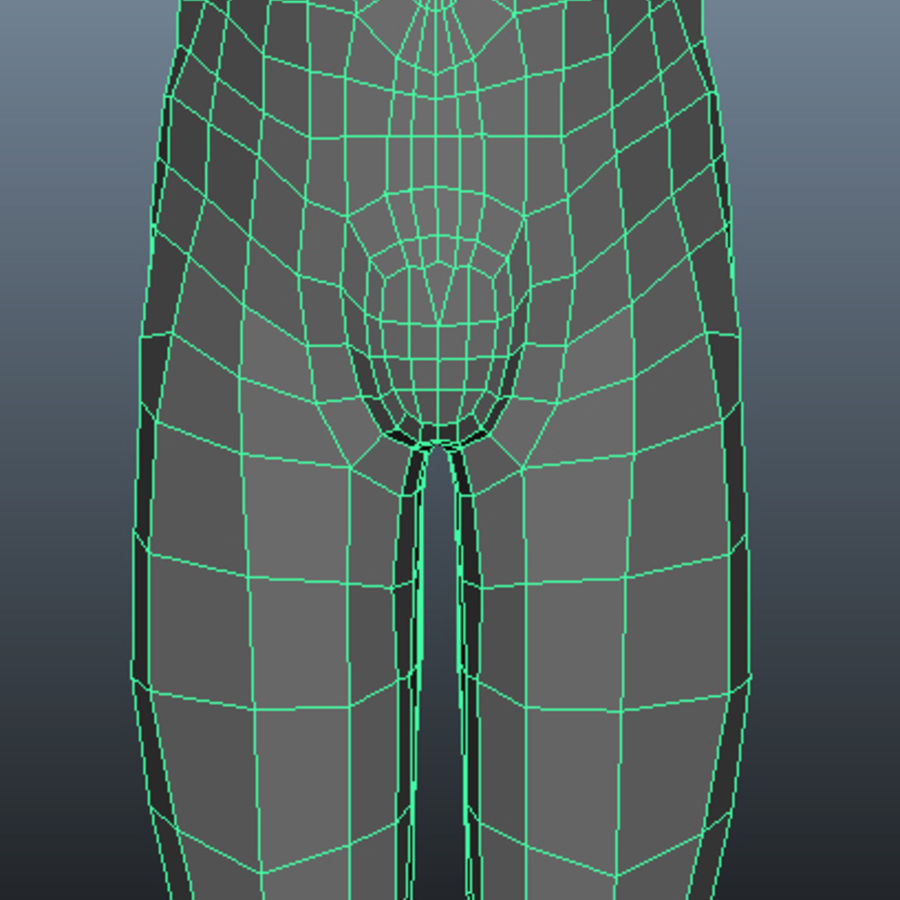 Male Base Mesh royalty-free 3d model - Preview no. 16