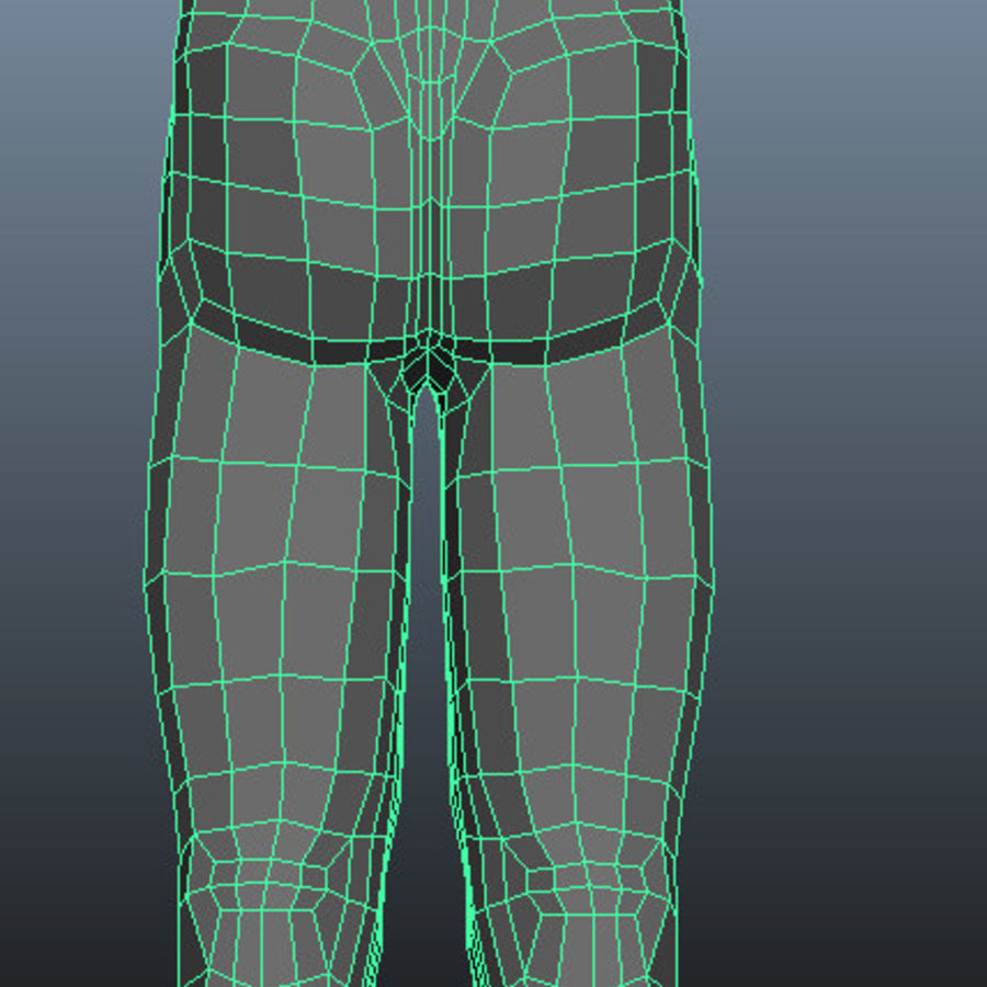 Male Base Mesh royalty-free 3d model - Preview no. 8