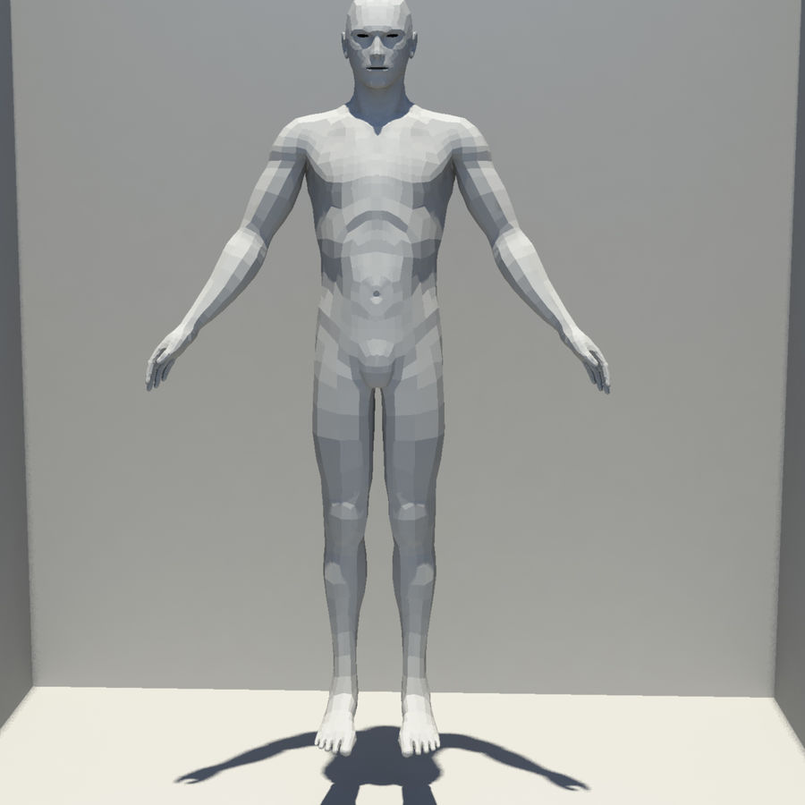 Male Base Mesh royalty-free 3d model - Preview no. 1