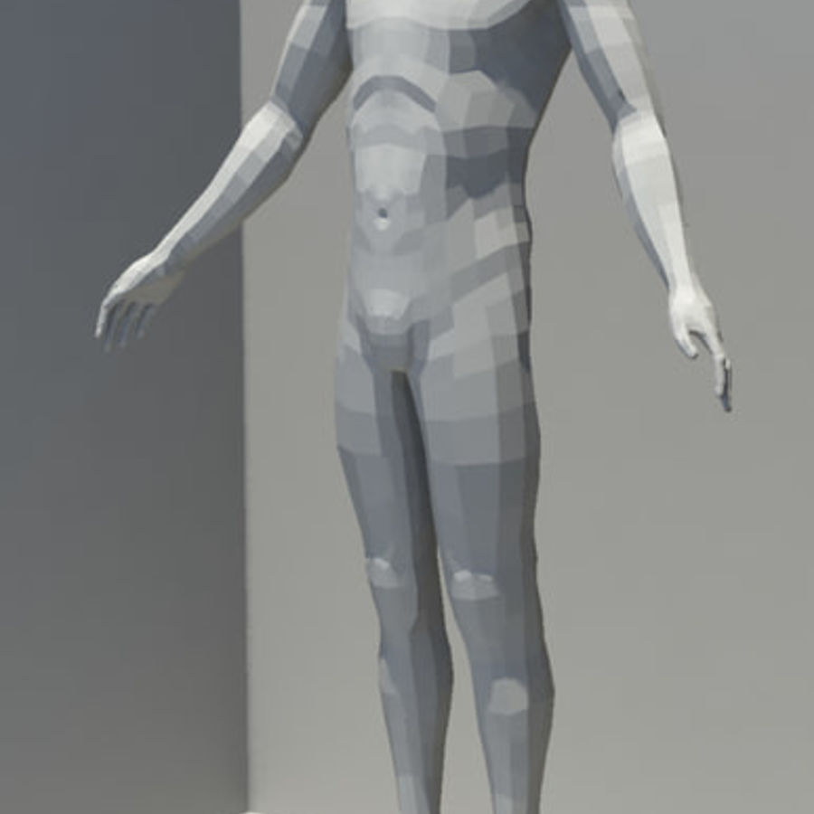 Male Base Mesh royalty-free 3d model - Preview no. 4