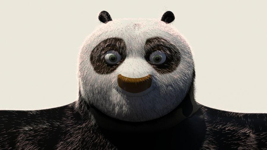 Kung Fu Panda royalty-free 3d model - Preview no. 3