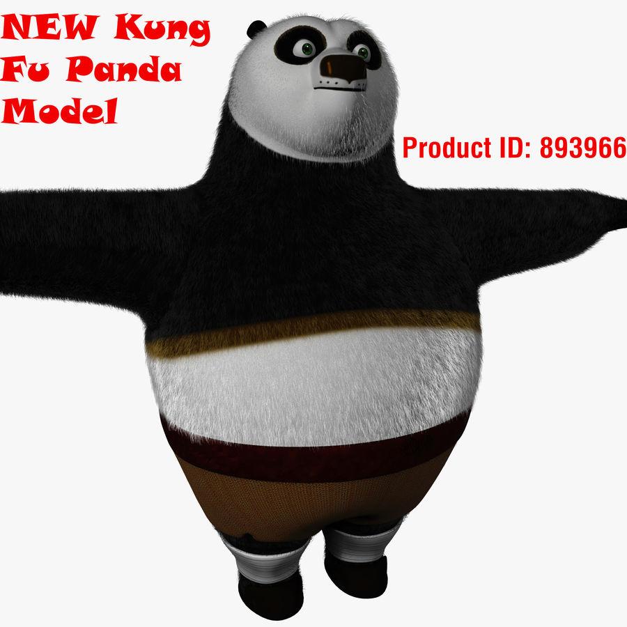 Kung Fu Panda royalty-free 3d model - Preview no. 2
