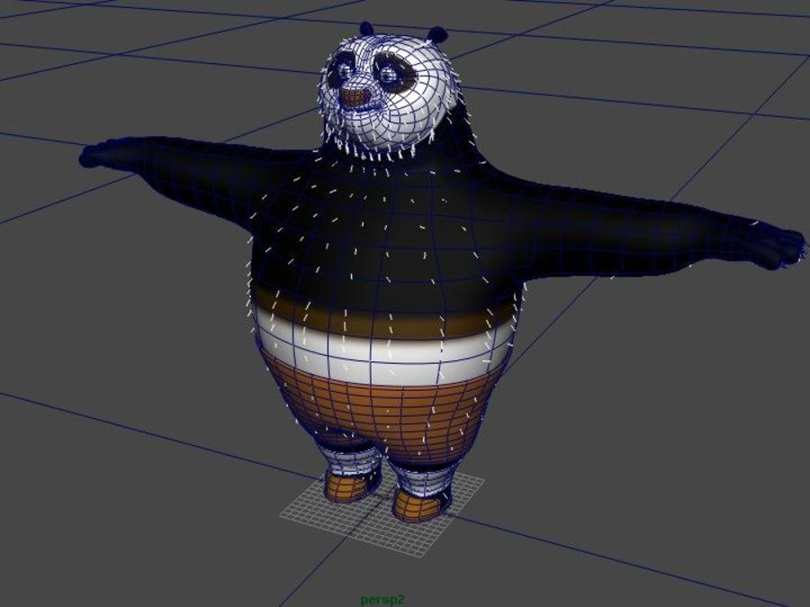 Kung Fu Panda royalty-free 3d model - Preview no. 5