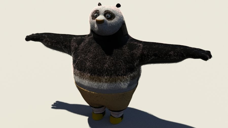 Kung Fu Panda royalty-free 3d model - Preview no. 1