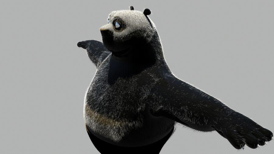 Kung Fu Panda royalty-free 3d model - Preview no. 4