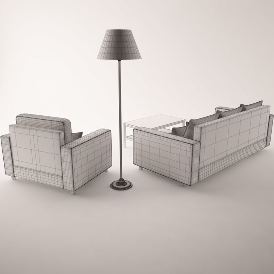 Furniture Set royalty-free 3d model - Preview no. 10