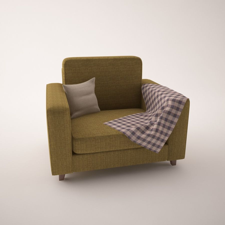 Furniture Set royalty-free 3d model - Preview no. 5