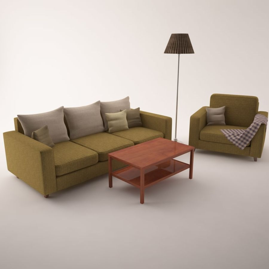 Furniture Set royalty-free 3d model - Preview no. 7