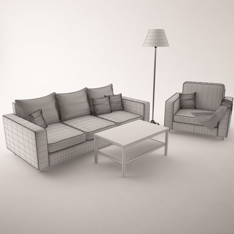 Furniture Set royalty-free 3d model - Preview no. 8