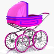 Cartoon Stroller 3d model