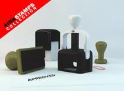 切手コレクション 3d model