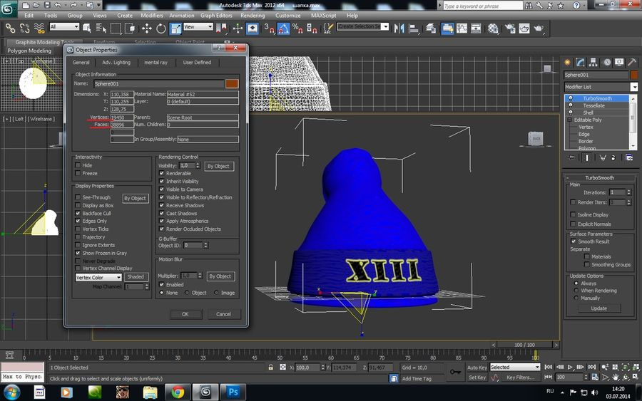hat,cap royalty-free 3d model - Preview no. 2