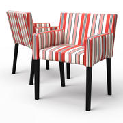 NILS Dining chair with armrests 3d model