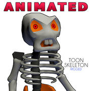 Toon Skeleton rigged 24 animations 3d model