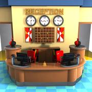 Cartoon Reception 3d model