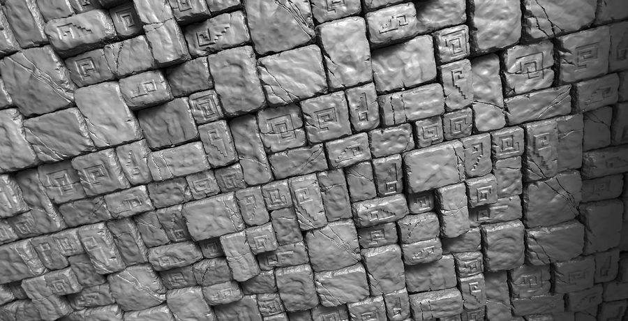 3 Tileable Stone Floor Tiles royalty-free 3d model - Preview no. 1