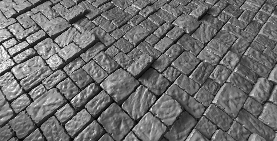 3 Tileable Stone Floor Tiles royalty-free 3d model - Preview no. 3