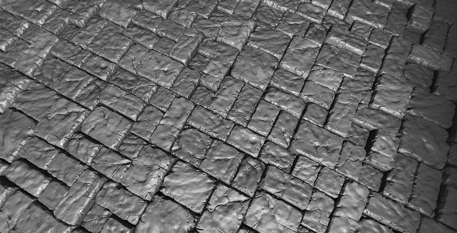 3 Tileable Stone Floor Tiles royalty-free 3d model - Preview no. 5