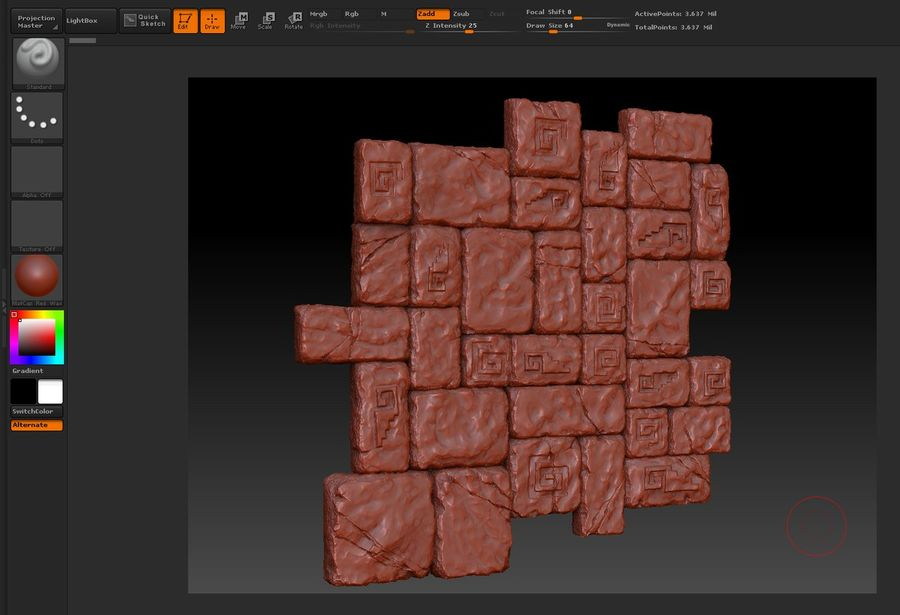 3 Tileable Stone Floor Tiles royalty-free 3d model - Preview no. 2