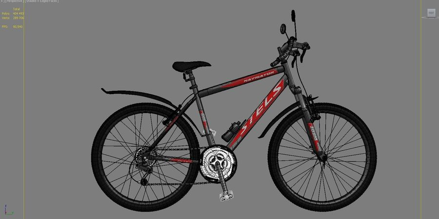 Bicycle Stels Navigator 600 royalty-free 3d model - Preview no. 3