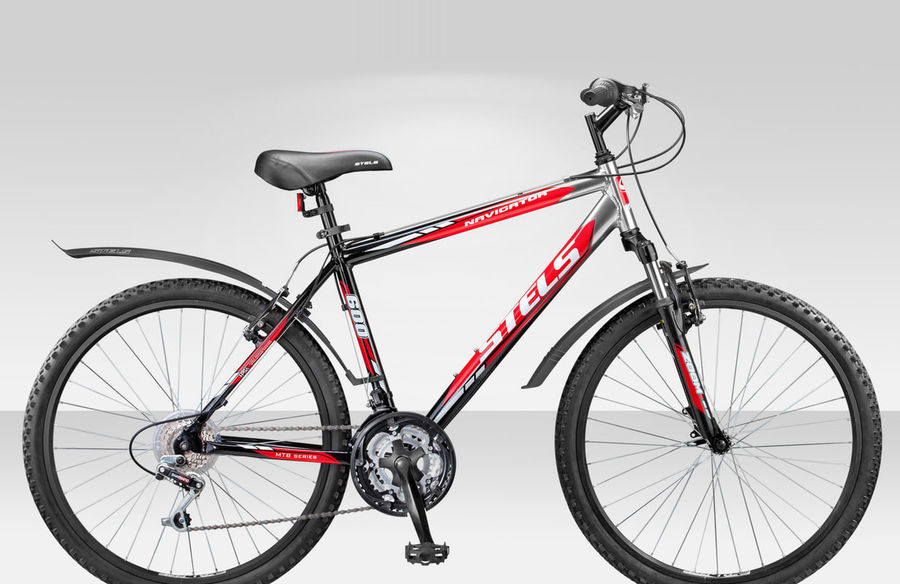 Bicycle Stels Navigator 600 royalty-free 3d model - Preview no. 2