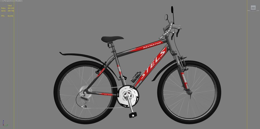 Bicycle Stels Navigator 600 royalty-free 3d model - Preview no. 4